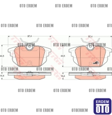 Alfa Romeo 145 146 Arka Disk Fren Balatası Takım TRW 77365939 77365939