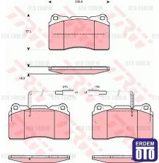 Alfa Romeo 159 Ön Fren Balatası 3.2-2.4Jtd TRW 9951155 9951155