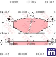Arka Fren Balatası Disk LAGUNA/ESPACE/SAFRANE 7701203726 - GDB1041