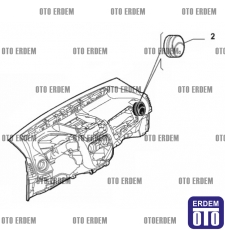 Fiat Fiorino Kalorifer Izgarası Yan 735461076