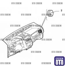 Fiat Fiorino Kalorifer Izgarası Yan 735461076 735461076