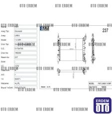 Fiat Linea Motor Su Radyatörü 2 Sıra  51784706 51784706