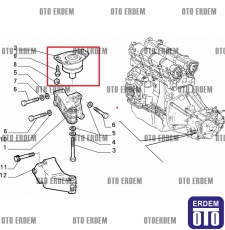Fiat Marea Şanzıman Takozu Orjinal 7778563 7778563
