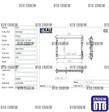 Fiat Palio Motor Su Radyatörü 1 Sıra 46449104 46449104