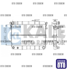 Fiat Şahin Motor Su Radyatörü 3 Sıra 85008077 85008077