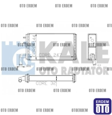Fiat SLX Kalorifer Peteği Radyatörü 2 Sıra 85007271 85007271