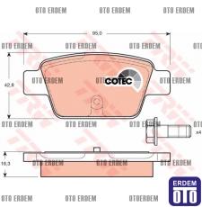 Fiat Stilo Arka Fren Balata Takımı TRW 71769094 71769094