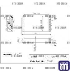 Fiat Tempra Kalorifer Radyatör Peteği Musluksuz 7754065 7754065