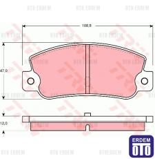 Fiat Tempra Ön Fren Balatası TRW 5892729 5892729