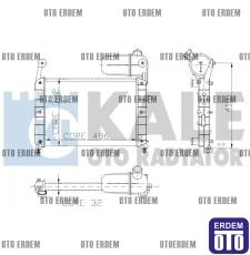 Fiat Temra Motor Su Radyatörü 2 Sıra Kale 46425435 46425435