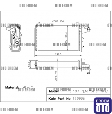 Fiat Tipo Kalorifer Radyatör Peteği Musluksuz 7754065 7754065
