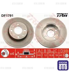 Fiat Uno 70 Ön Fren Diski 5961814 5961814