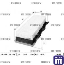 Hava filtresi 1.9 KANGOO 7701044101 7701044101