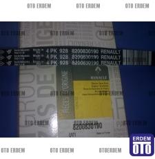 Klima Kayışı - Renault - Clio 2 - Clio 3 - 1,2 16 Valf - 4PK928   8200830190 - Mais