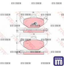 Laguna 1 Arka Disk Fren Balatası TRW 7701205491 7701205491