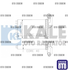 Megane 1 Kalorifer Peteği Radyatörü KALE 7701204680 7701204680