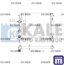 Megane 1 Motor Su Radyatörü Kale 7702258285 7702258285