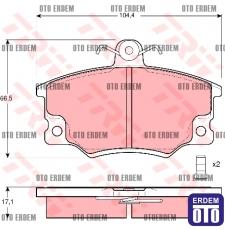 Ön Fren Balatası Tofaş - Fiat - Tipo - Tempra - Uno 70 - S - SX - SXA - SXAK - SLX - SX İE - Alfa 155 5892735 - TRW GDB458