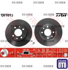 Ön Fren Diski R9 - R11 - R19 - Clio - Broadway - Spring - Flash - Rainbow 7701204282 - DF1013