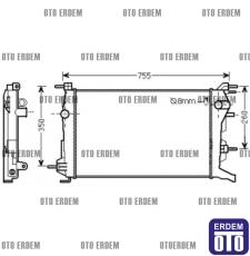 Renault Fluence Motor Su Radyatörü 1 Sıra 214100068R 214100068R