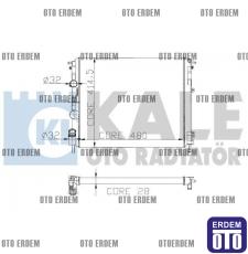 Renault Kangoo Motor Su Radyatörü 2 Sıra 7700430784 7700430784