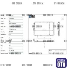 Renault R21 Manager Motor Su Radyatörü 1 Sıra Kale 7702247464 7702247464
