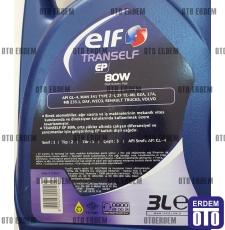 Şanzıman Yağı Elf Tranself EP-80 (3 Litre) ELFHP803 - ELF