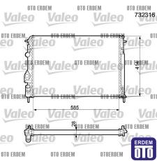 Scenic 1 Motor Su Radyatörü Valeo 7702258285 7702258285