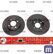 Tempra Tipo Ön Fren Disk Takımı Hava Soğutmasız 7663465 - DF1745