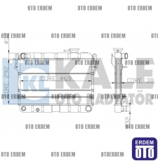 Tofaş Şahin Motor Su Radyatörü 2 Sıra 85008077 85008077