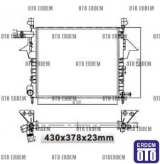 Twingo Radyatör Motor Su Radyatörü Renault Müşürlü 7701045212 - MGA 7701045212 - MGA