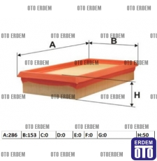 Hava Filtresi 1.9 KANGO (2002-2003 dizel) 7701047417