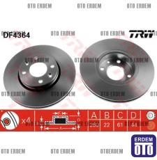 Ön Fren Diski MEGANE-2/MODUS/CLİO-III LOGAN-MSV/SANDERO 7701207795 - DF4364