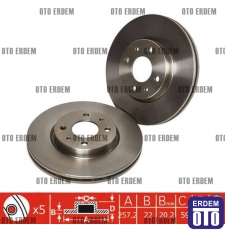 Fiat Stilo Ön Fren Disk Takımı MGA 46401356