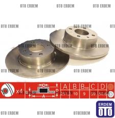 Fiat Bravo II Arka Fren Disk Takımı Ferodo 46831042