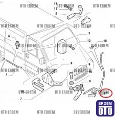 Fiat Ducato Sürgülü Kapı Kilit Teli 1334566080 - 4