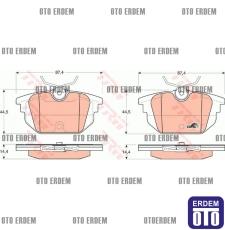 Alfa Romeo 145 146 Arka Disk Fren Balatası Takım TRW 77365939 - 2
