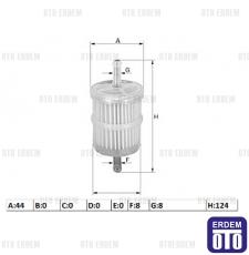 Benzin filtresi 1.1-1.4-1.6 karbratörlü 82425649