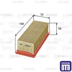Clio 2 Hava Filtresi 1.2 16V Valeo 8200104272