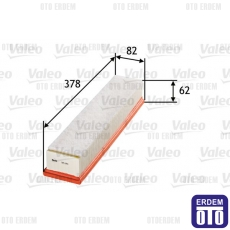 Clio 2 Hava Filtresi 1.5Dci Valeo 8200298074