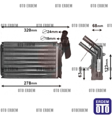 Clio Eski Kasa Kalorifer Peteği Radyatörü KALE 7701204680