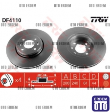 Dacia Dokker Fren Diski Takım TRW 7701207829