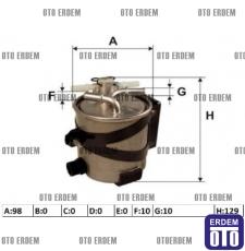 Dacia Logan Yakıt Filtresi 7701066680
