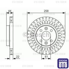 Dacia Sandero Fren Diski Ön Havalı BOSCH 402063149R
