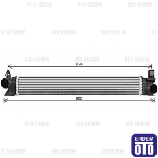 Ducato İntercooler Turbo Radyatörü 1382428080