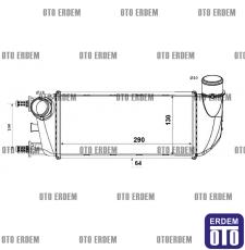 Fiat 500C Turbo Radyatörü  51787495 - 2