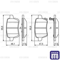 Fiat 500L Arka Disk Balata 77366595
