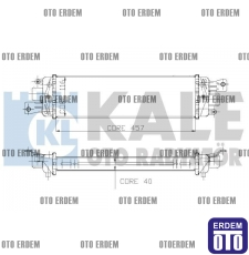 Fiat Albea Turbo Radyatörü 51718679 - 2