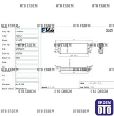 Fiat Albea Turbo Radyatörü 51718679 - 3