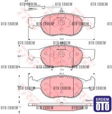 Fiat Brava Ön Fren Balatası Takımı 77362199